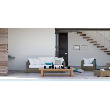 Rectangular outdoor coffee table Siena by Manutti