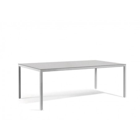 Rectangular outdoor dining table Quarto by Manutti - Shingle frame, grey ceramic top