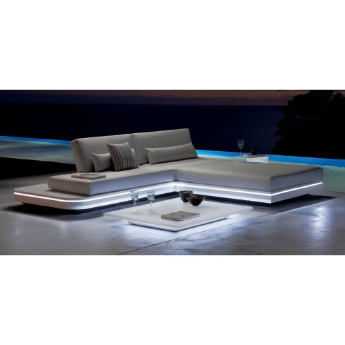 Rectangular outdoor coffee table Luna Floating by Manutti
