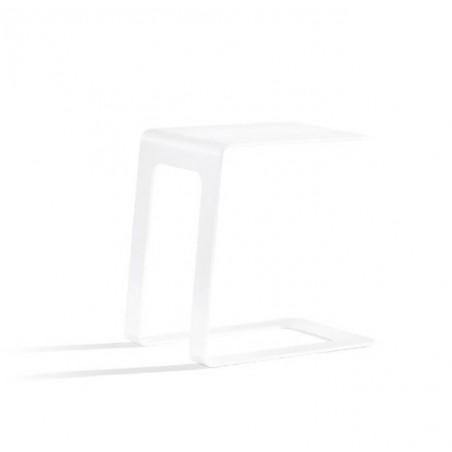 Opened outdoor side table by Manutti - White