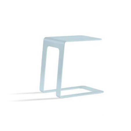 Opened outdoor side table by Manutti - Ice blue