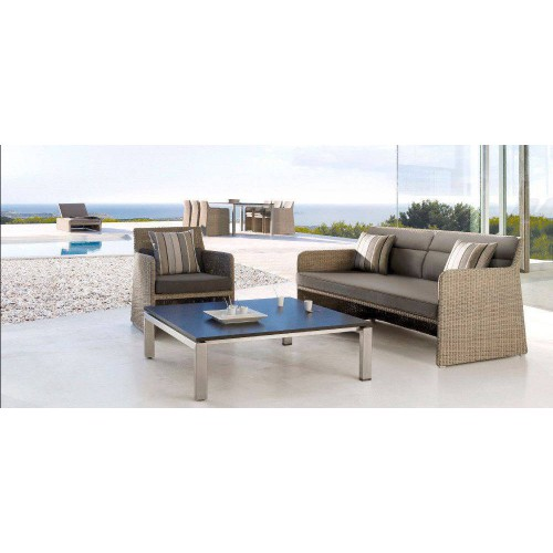 Square outdoor coffee table Trento by Manutti