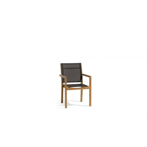Outdoor chair Siena by Manutti - Batyline black