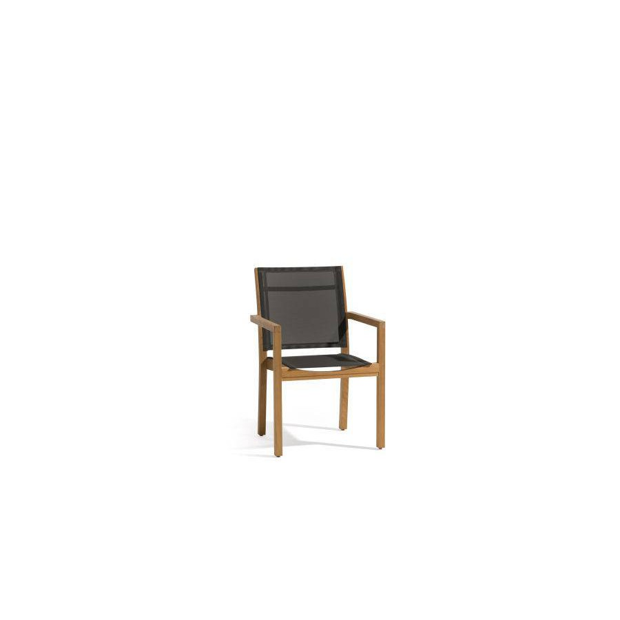 Outdoor chair Siena by Manutti - Batyline black