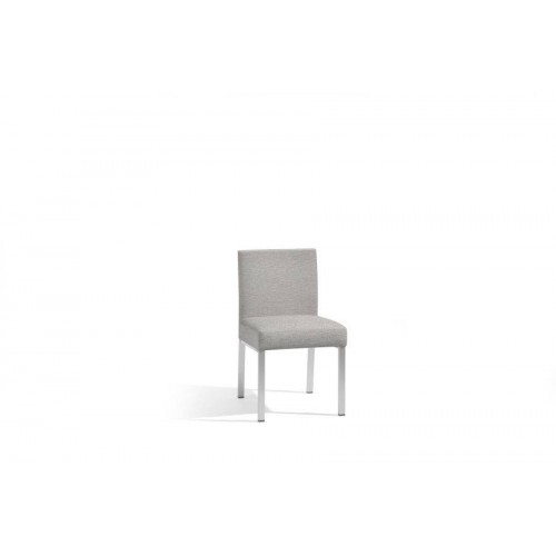 Outdoor dining chair Liner by Manutti - Anodised aluminium frame, lotus smokey seat