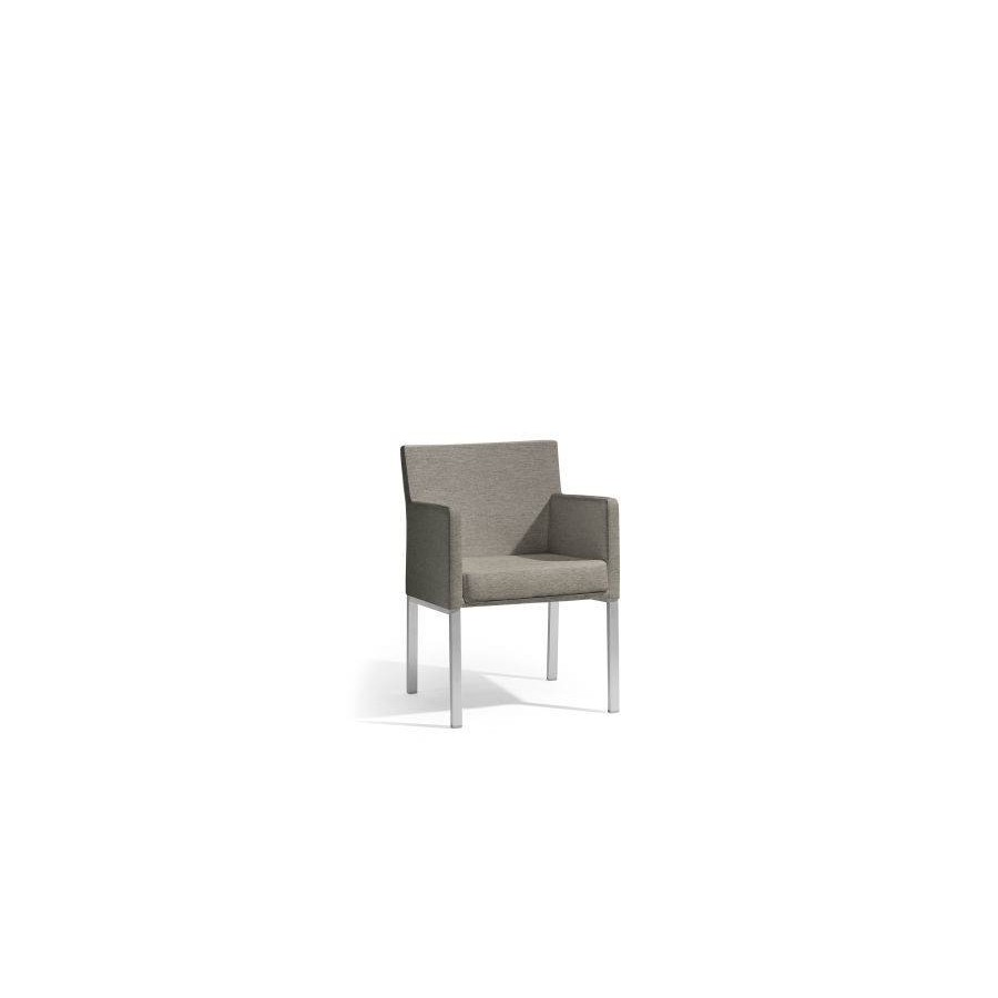 Outdoor chair Liner by Manutti - Anodised aluminium frame, Lotus sparrow seat