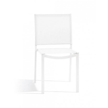 Square outdoor dining chair Helios by Manutti