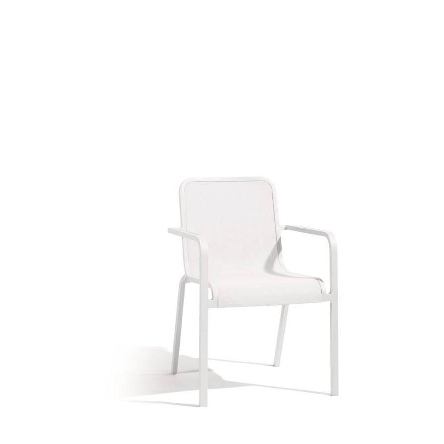 Outdoor chair Helios by Manutti - White frame and seat