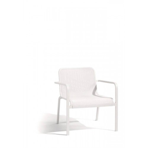 Outdoor armchair Helios by Manutti - White frame and seat