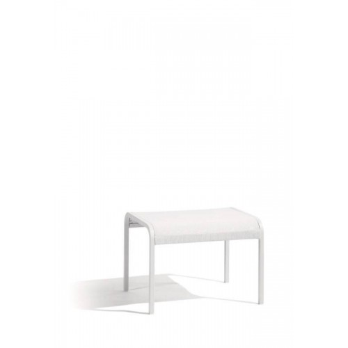Outdoor footstool Helios by Manutti - White frame and seat