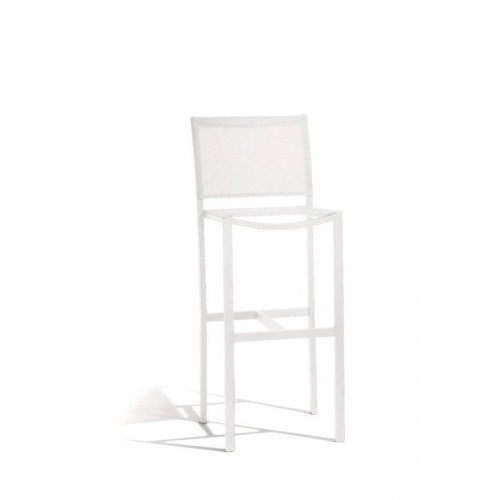 Outdoor barstool Helios by Manutti - White frame and seat