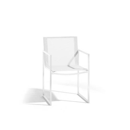 Outdoor chair Latona by Manutti - White frame and seat