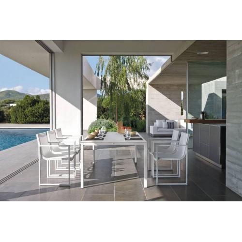 Chaise pour l'extérieur Latona de Manutti - Cadre et assise blanc