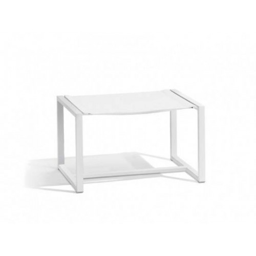 Outdoor footstool Latona by Manutti - White frame and seat