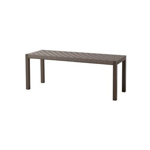 Bench Pheniks by Sifas - Moka lacquered aluminium, taupe Textylene straps