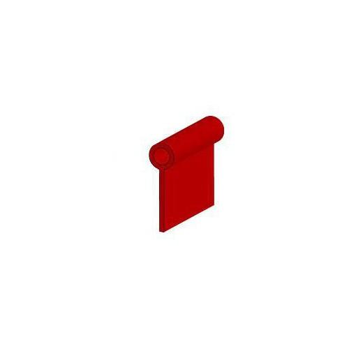 Passepoil souple 100% PVC diamètre 4 mm coloris rouge