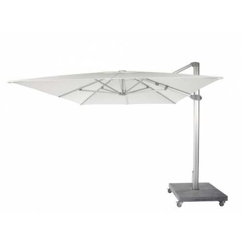 Square Kingston umbrella by Jardinico - Anodised aluminium, natural canvas
