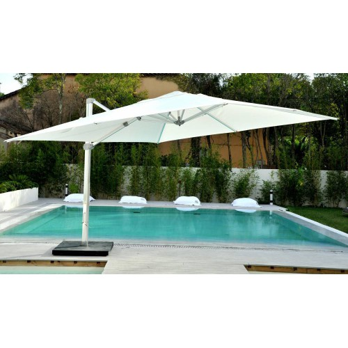 Rectangular Kingston umbrella by Jardinico - Anodised aluminium, natural canvas
