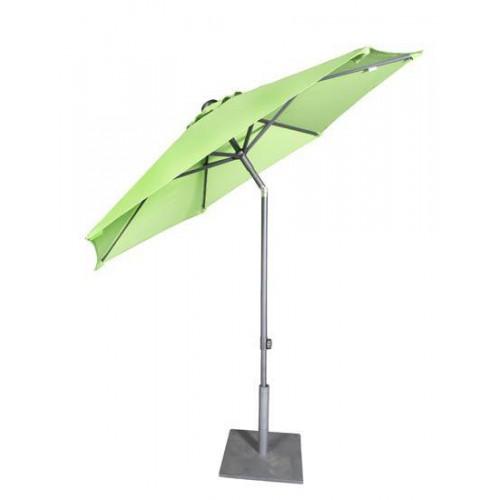 Parasol rond Bonair Push Up Plus de Jardinico - Aluminium anthracite, toile natural