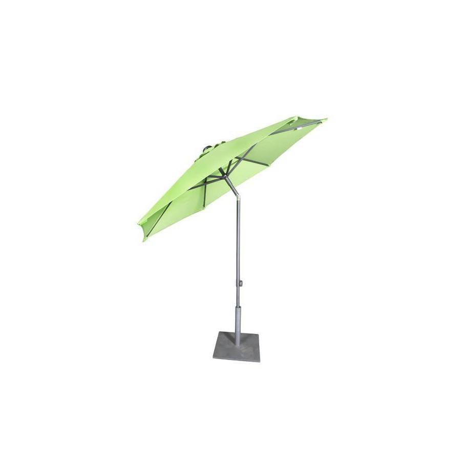 Round Bonair Push Up Plus umbrella by Jardinico - Aluminium anthracite, willow canvas