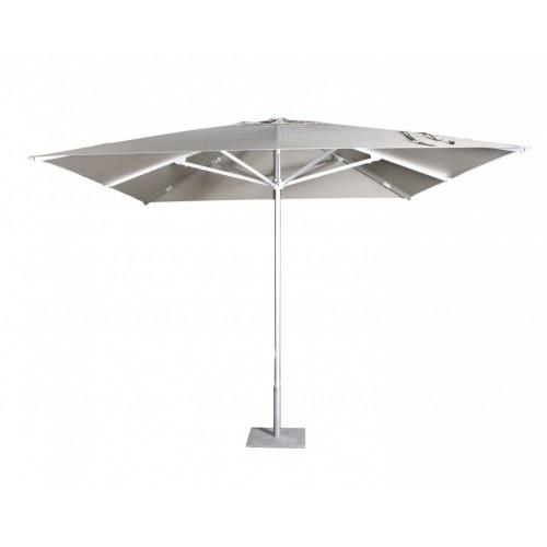 Parasol carré Costa de Jardinico - Aluminium anodisé, toile natural