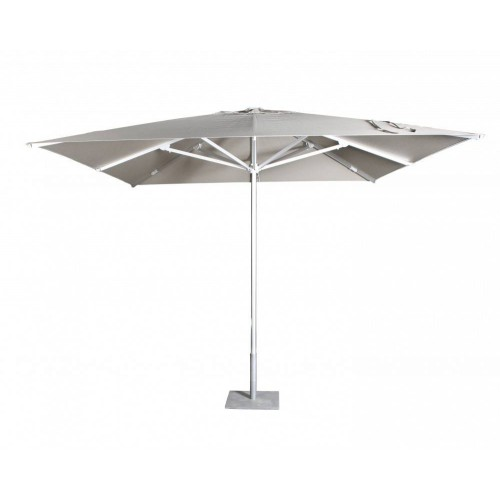 Square Costa umbrella by Jardinico - Anodised aluminium, gris nature canvas