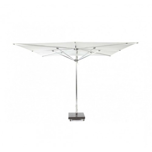 Square Tahiti umbrella by Jardinico - Anodised aluminium, natural canvas