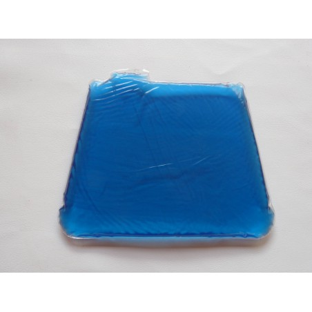 Gel plate for motorcycle saddle