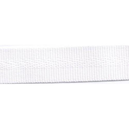 Galon acrylique teinté masse largeur 22 mm coloris blanc