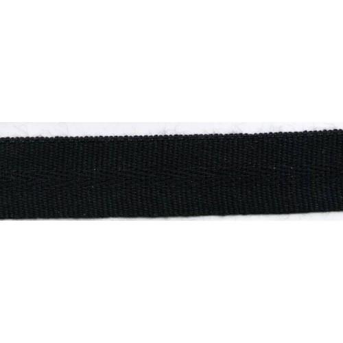 Galon acrylique teinté masse largeur 22 mm coloris noir