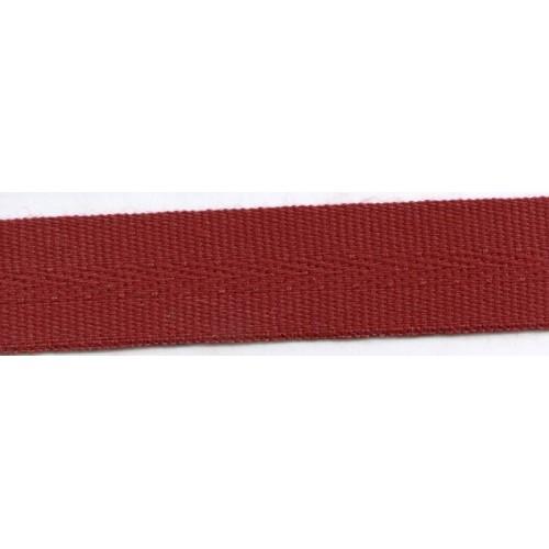 Galon acrylique teinté masse largeur 22 mm coloris bordeaux