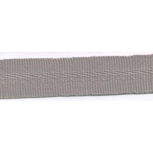 Galon acrylique teinté masse largeur 22 mm coloris gris