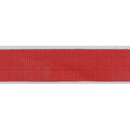 Galon acrylique teinté masse largeur 22 mm coloris rouge