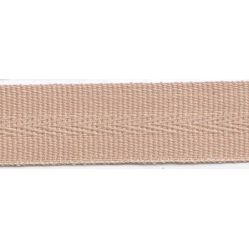 Galon acrylique teinté masse largeur 22 mm coloris beige
