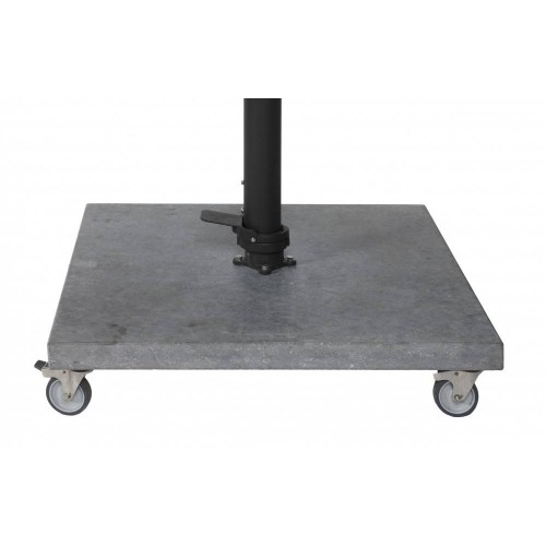 Bergamo umbrella base with wheels Jardinico for Mauritius umbrella - Blue stone