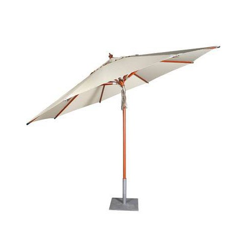 Round Bali umbrella by Jardinico - Kempas hardwood, natural canvas
