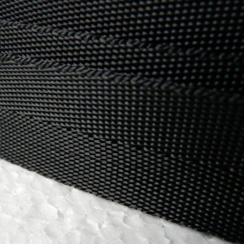 Sangle polyester souple noire largeur 25 mm