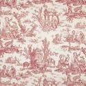 Coutances Positif furniture farbic - Pierre Frey - Red