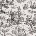 Coutances Positif furniture farbic - Pierre Frey - Black
