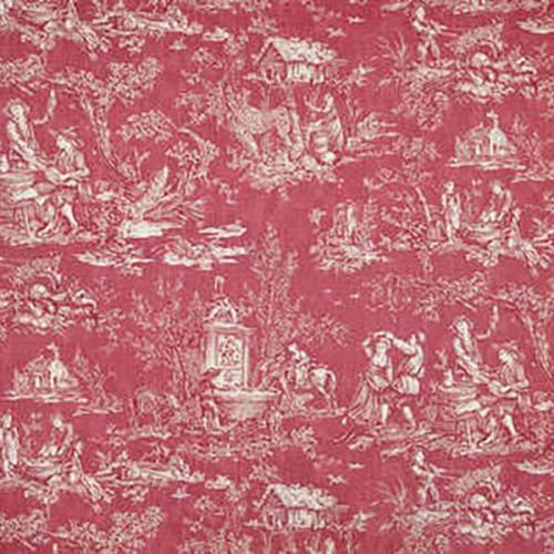 Coutances Négatif furniture farbic - Pierre Frey - Red
