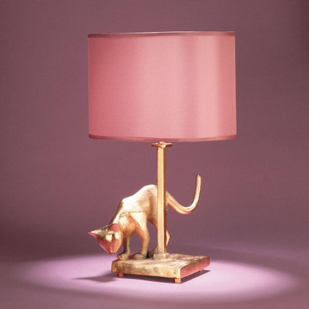Bronze table lamp cat Lili - Objet Insolite