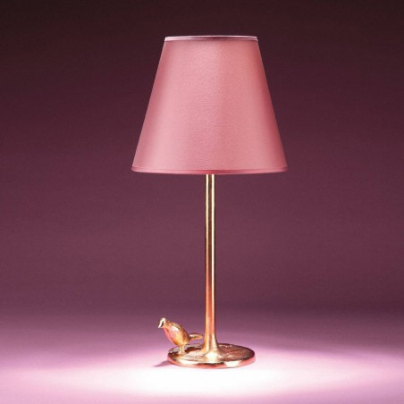 Bronze table lamp PLUME - Objet Insolite