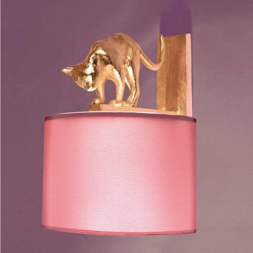 Bronze wall lamp cat Lili - Bronze gold