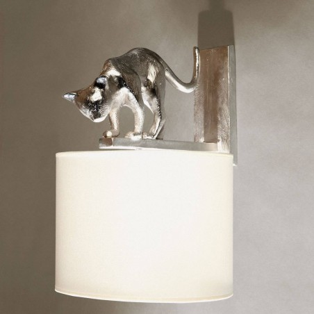 Bronze wall lamp cat Lili - Bronze nickel