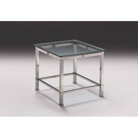 Square coffee table brass Roma