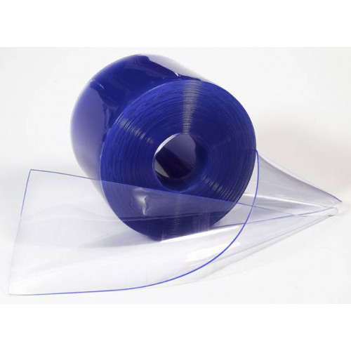 Lanière rideau pvc plastique cristal souple transparent largeur 10 cm au mètre