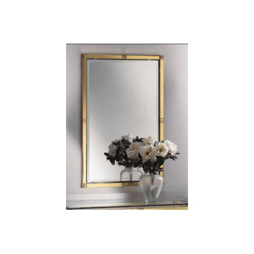 Mirror brass Roma - Bright brass with parts in mat brass, beveled transparent glass