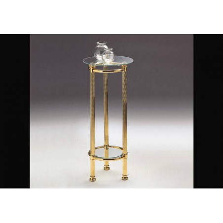 Column brass Venizia - Bright brass, tray transparent glass