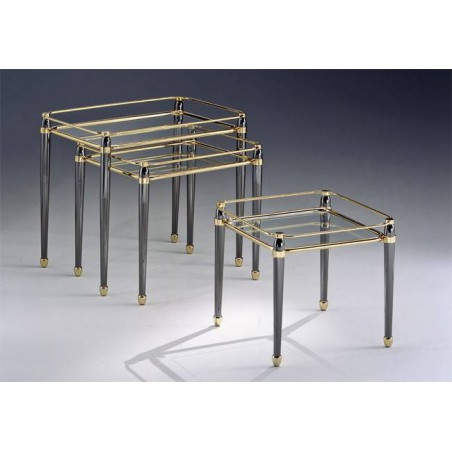Coffee table trundle brass Torino