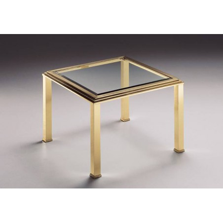 Square coffee table brass Milano